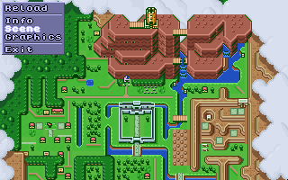 'Zelda:LTTP' map without mode 7 distortion