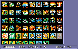 Level icons in 'Yoshi's Island:MW2' fx graphics